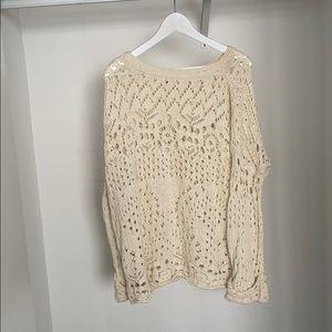 Free People cotton knit sweater